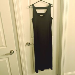 Cynthia Rowley V Neck Black Maxi Dress